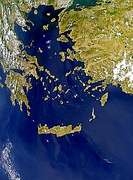 Haze or Sunglint Over the Aegean Sea - selected image