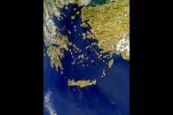 Haze or Sunglint Over the Aegean Sea