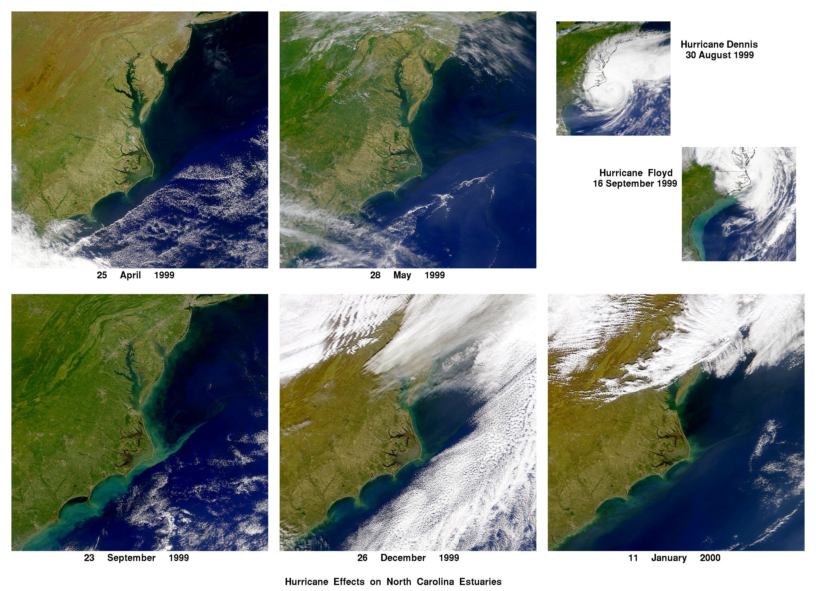 Effects of Hurricanes Dennis and Floyd in North Carolina - related image preview
