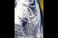 Contrails Over the Pacific