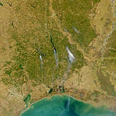 Fires in Texas and Louisiana - selected image