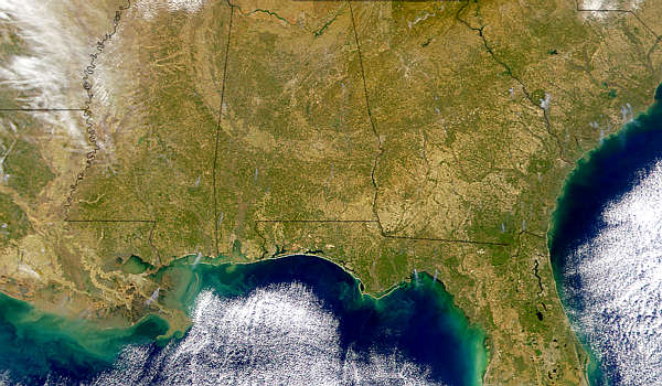 Southeastern U.S. Smoke Plumes - related image preview