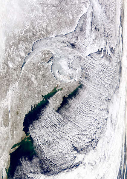 Cloud Pattern Over Maritime Canada - related image preview