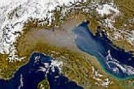 Haze over Northern Italy