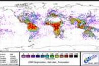 Global Lightning Distribution During Autumn 1999