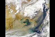 China Dust Storm and Korea Fires
