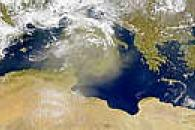 Dust Cloud Over Central Mediterranean