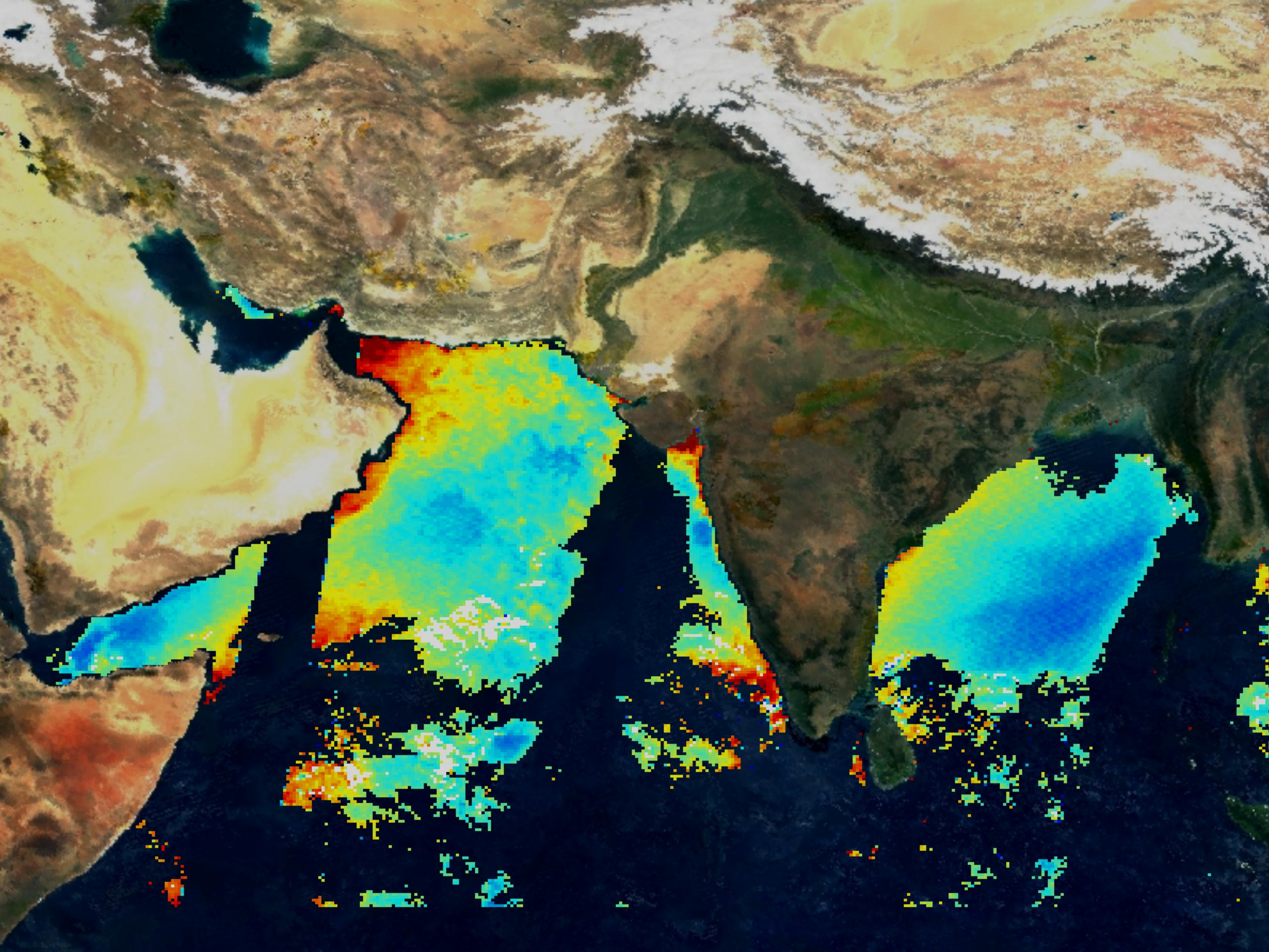 Fluorescence Line Height Over Indian Sub-continent - related image preview