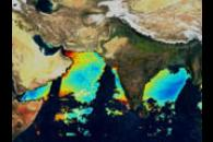 Fluorescence Line Height Over Indian Sub-continent