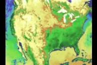 Terra Data over North America