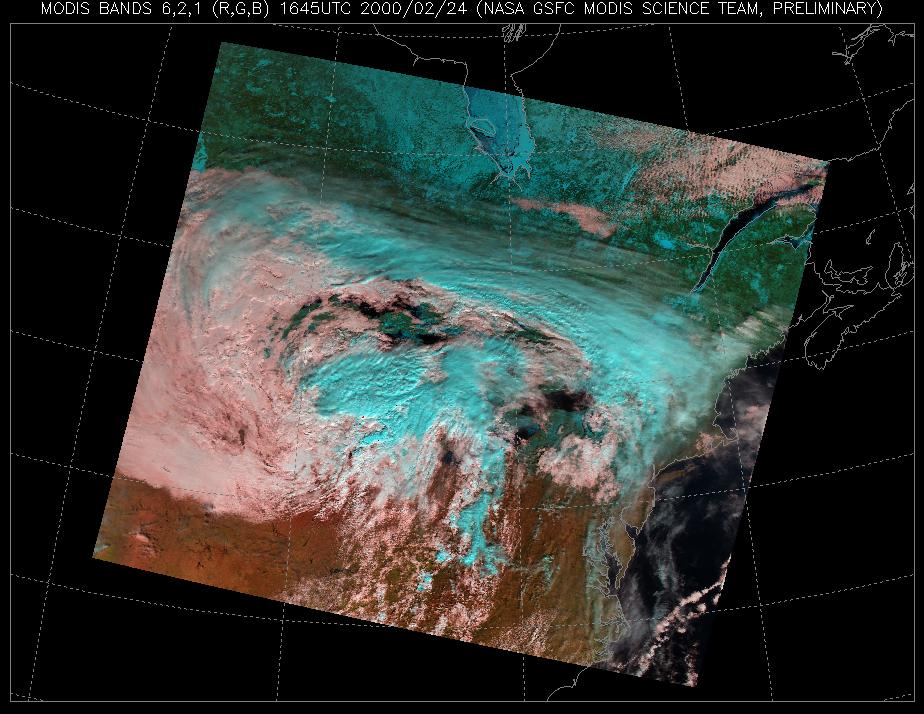 NASA Visible Earth: MODIS Cloud Types