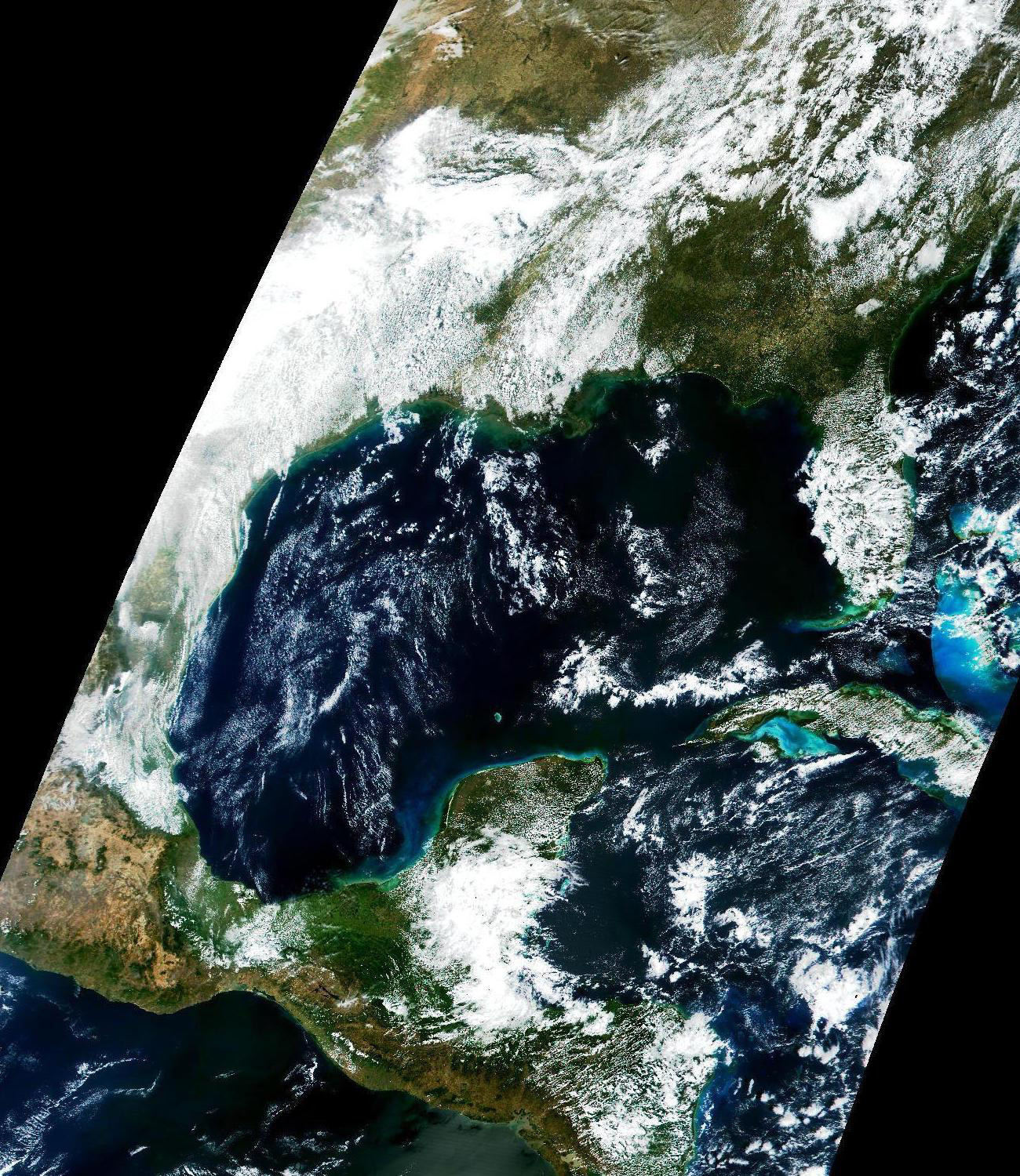 MODIS First Light: Early Engineering Image over Gulf of Mexico and Eastern North America - related image preview