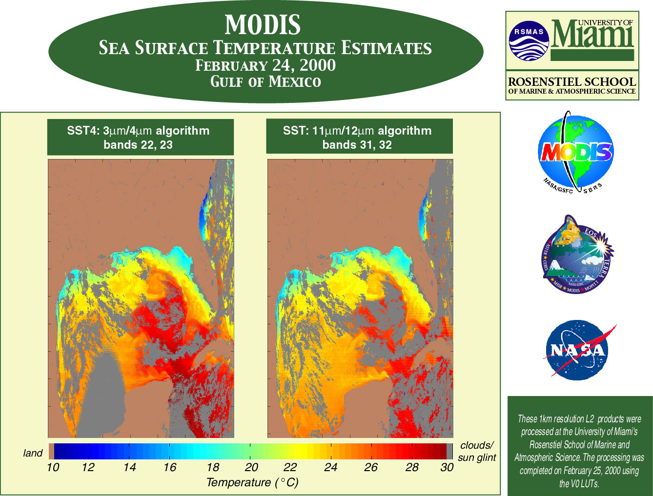 MODIS Sea Surface Temperature Estimates - related image preview