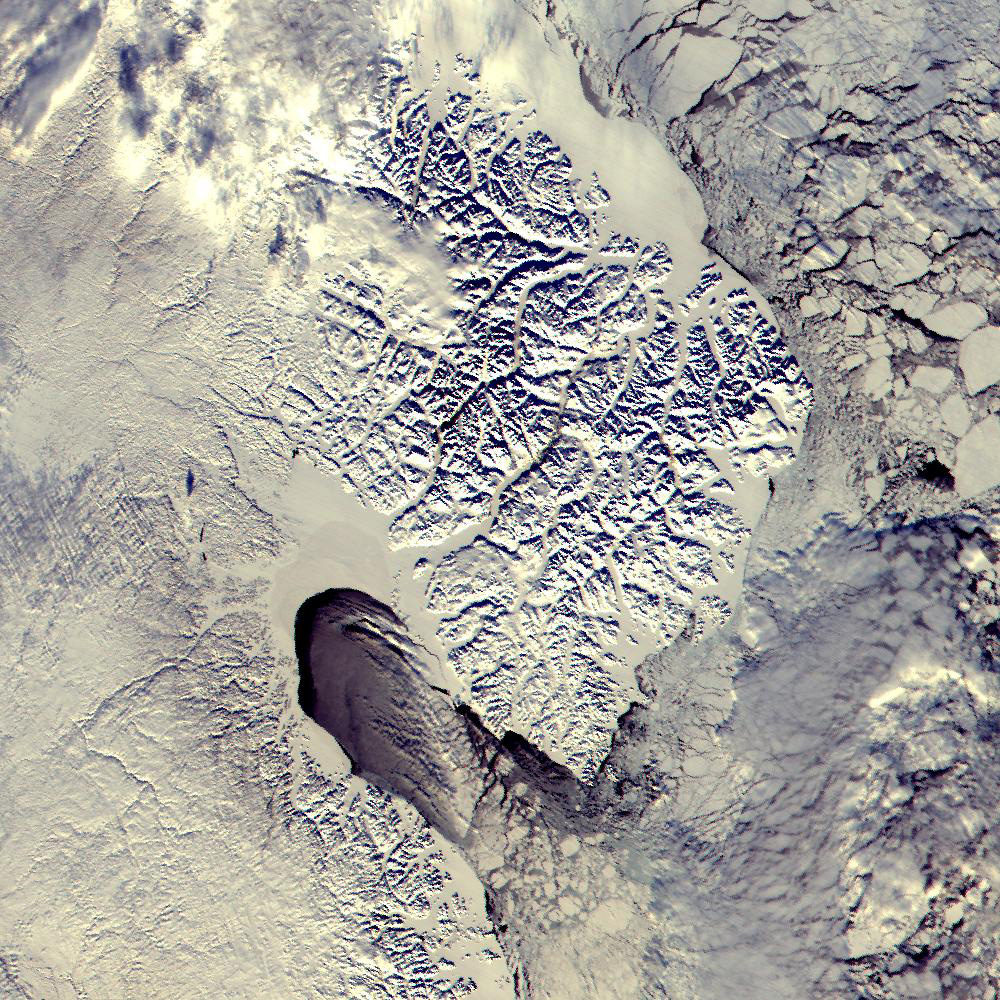 Ice over Cumberland Peninsula, Baffin Island, Canada - related image preview