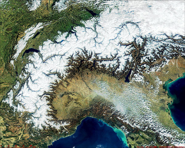 The Alps from MODIS - related image preview