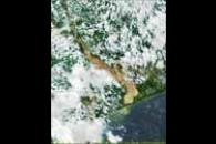 Flooding in Mozambique from MODIS