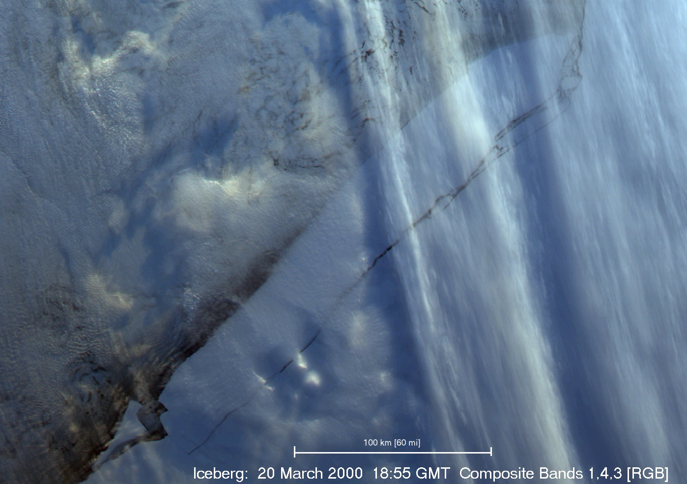Multi-Level Clouds over Sea Ice, Iceberg - related image preview
