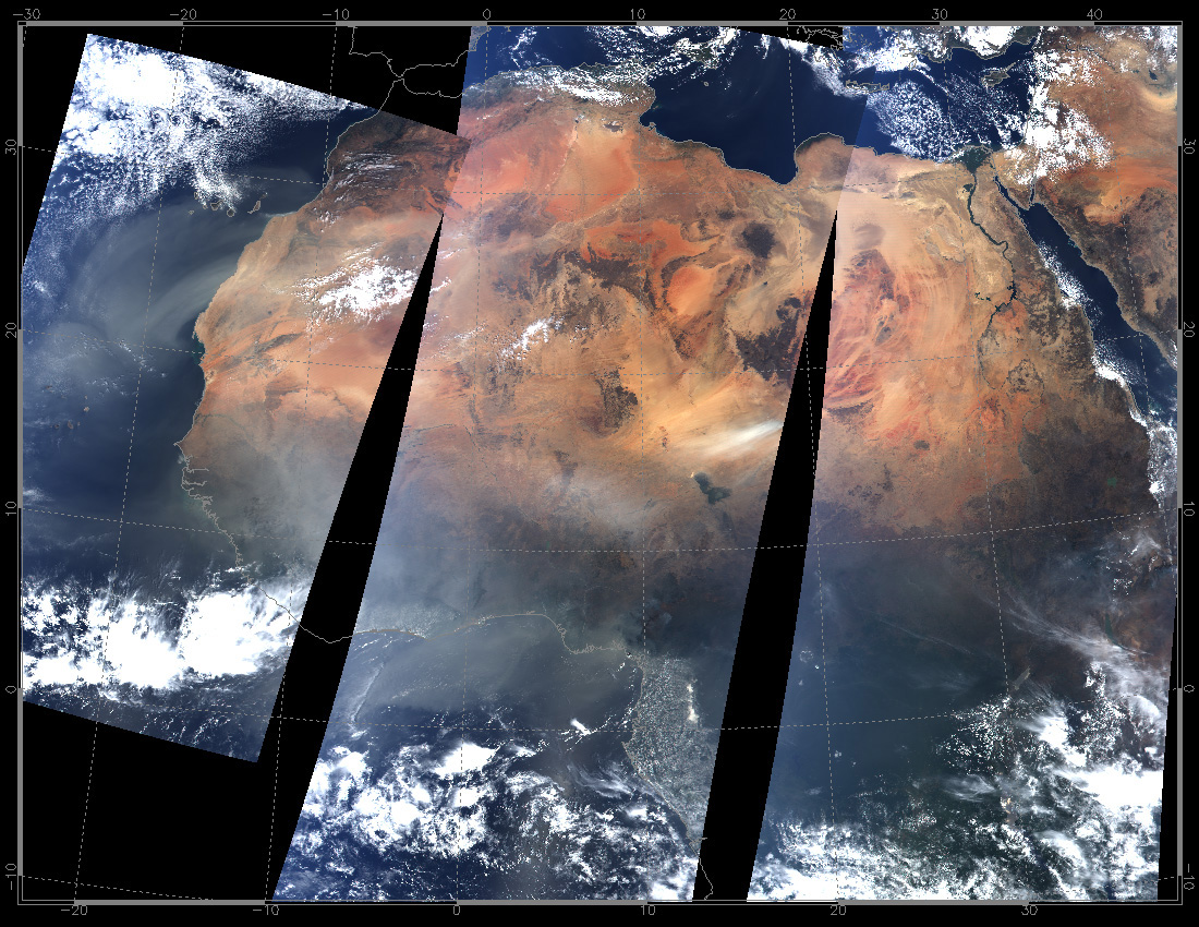 North Africa from MODIS - related image preview