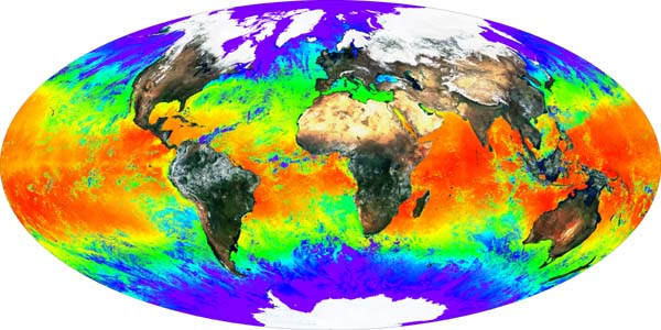 Global Composite of Land Surface Reflectance and Sea Surface Temperature - related image preview