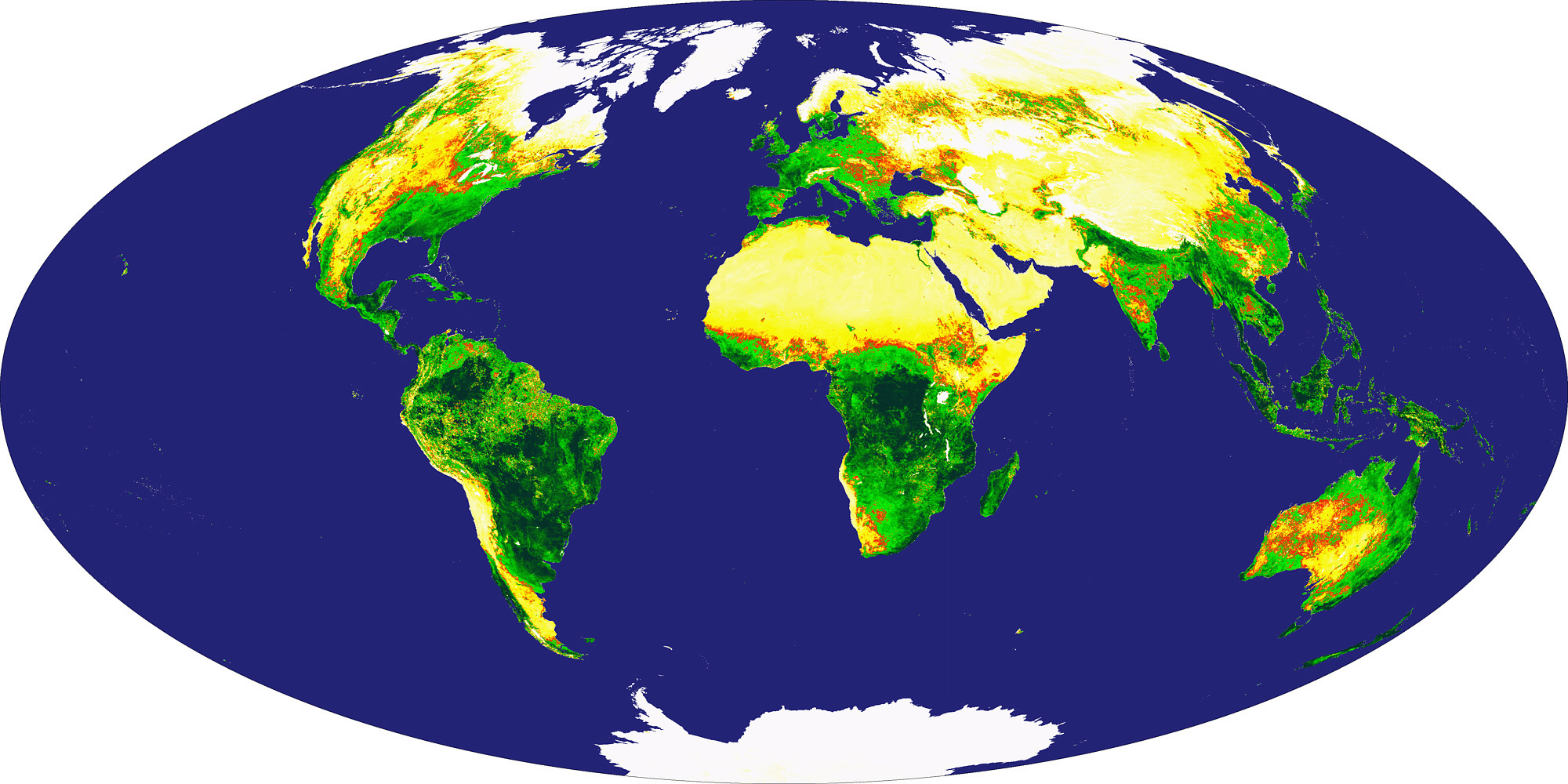 Global Vegetation Index from MODIS - related image preview