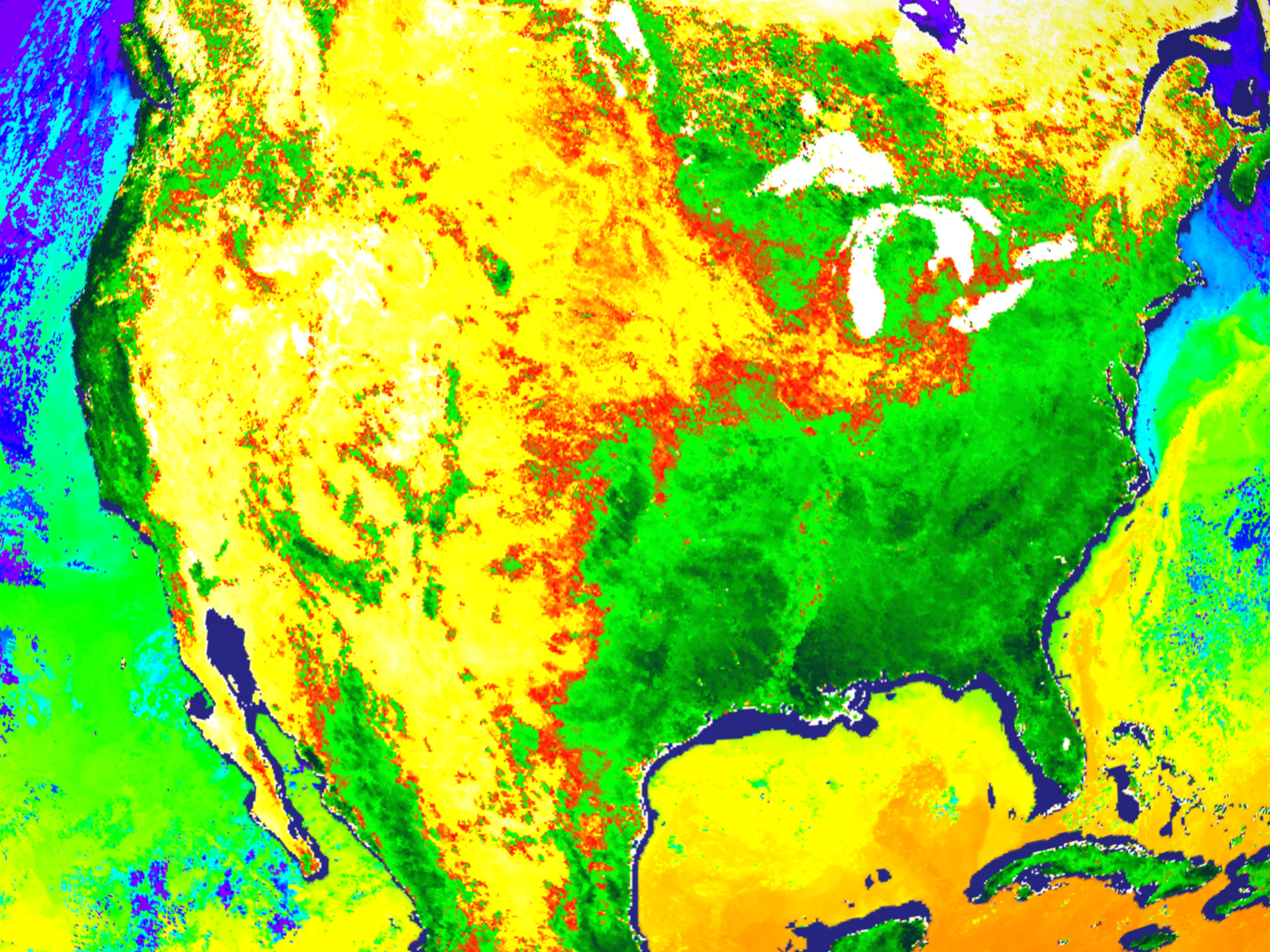 Sea Surface Temperature and Vegetation Index from MODIS - related image preview