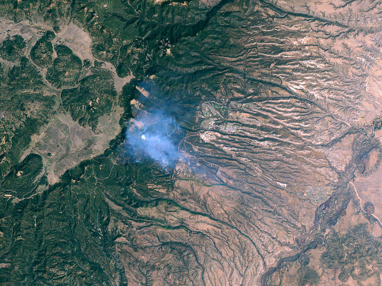 Los Alamos Fires From Landsat 7 - related image preview