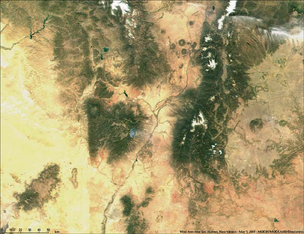 Fires near Los Alamos, New Mexico from MODIS - related image preview