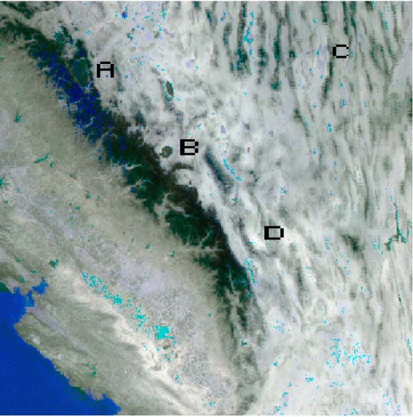 Land Surface Temperature over California from MODIS - related image preview