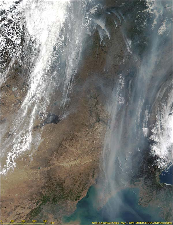 Fires in Northeast China from MODIS - related image preview