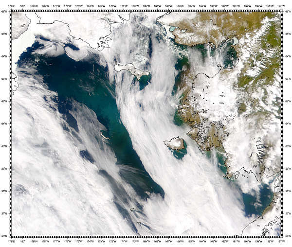 Bloom and Sediment in Bering Sea - related image preview