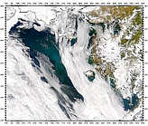 Bloom and Sediment in Bering Sea - selected image