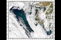 Bloom and Sediment in Bering Sea