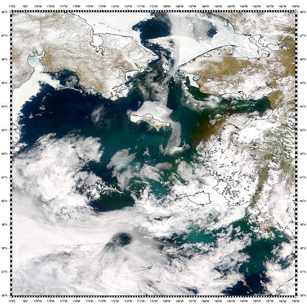 Sediment in Yukon Delta, Bering Sea - related image preview