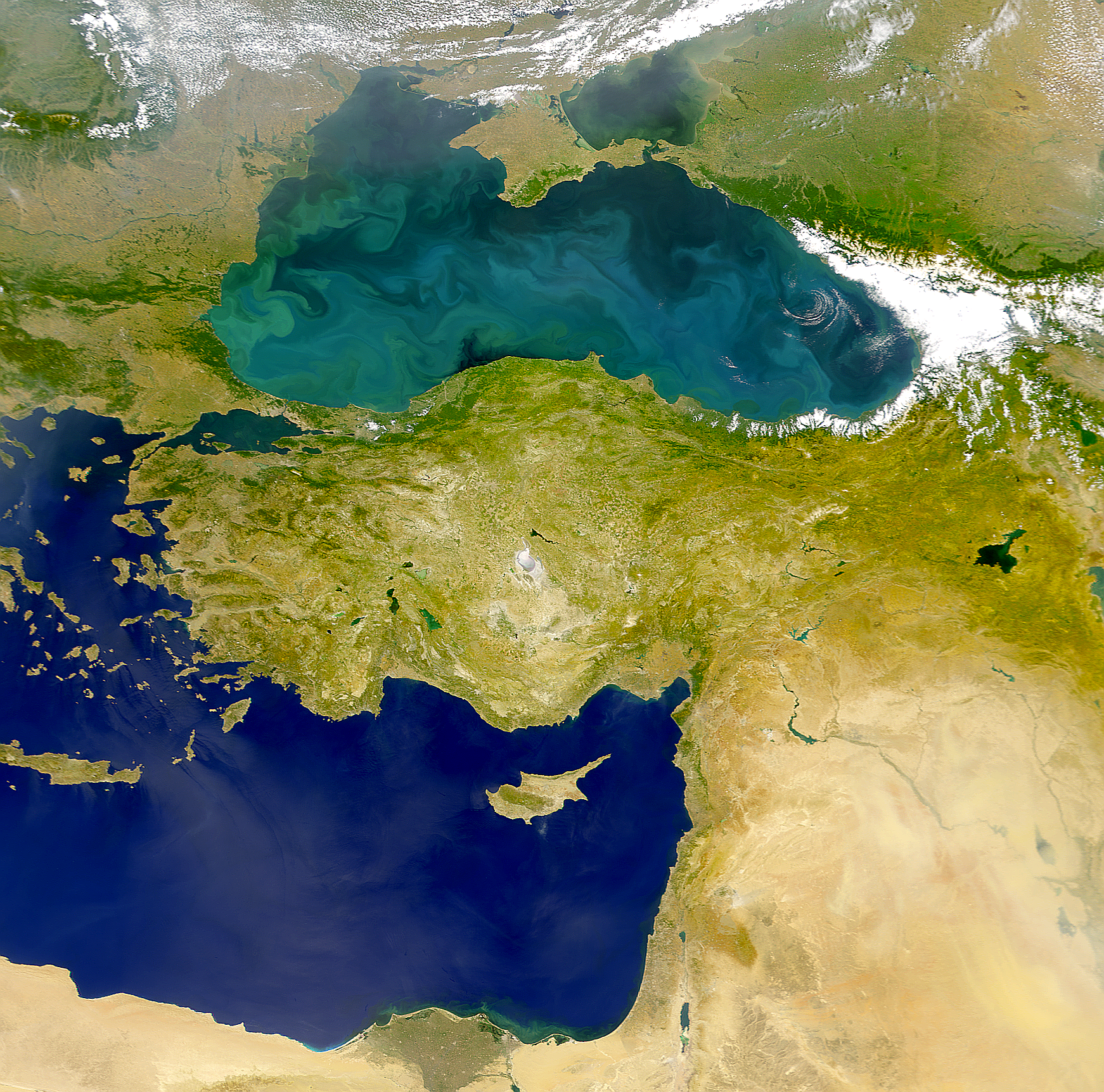 Color in Black Sea and Mediterranean - related image preview