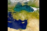 Color in Black Sea and Mediterranean