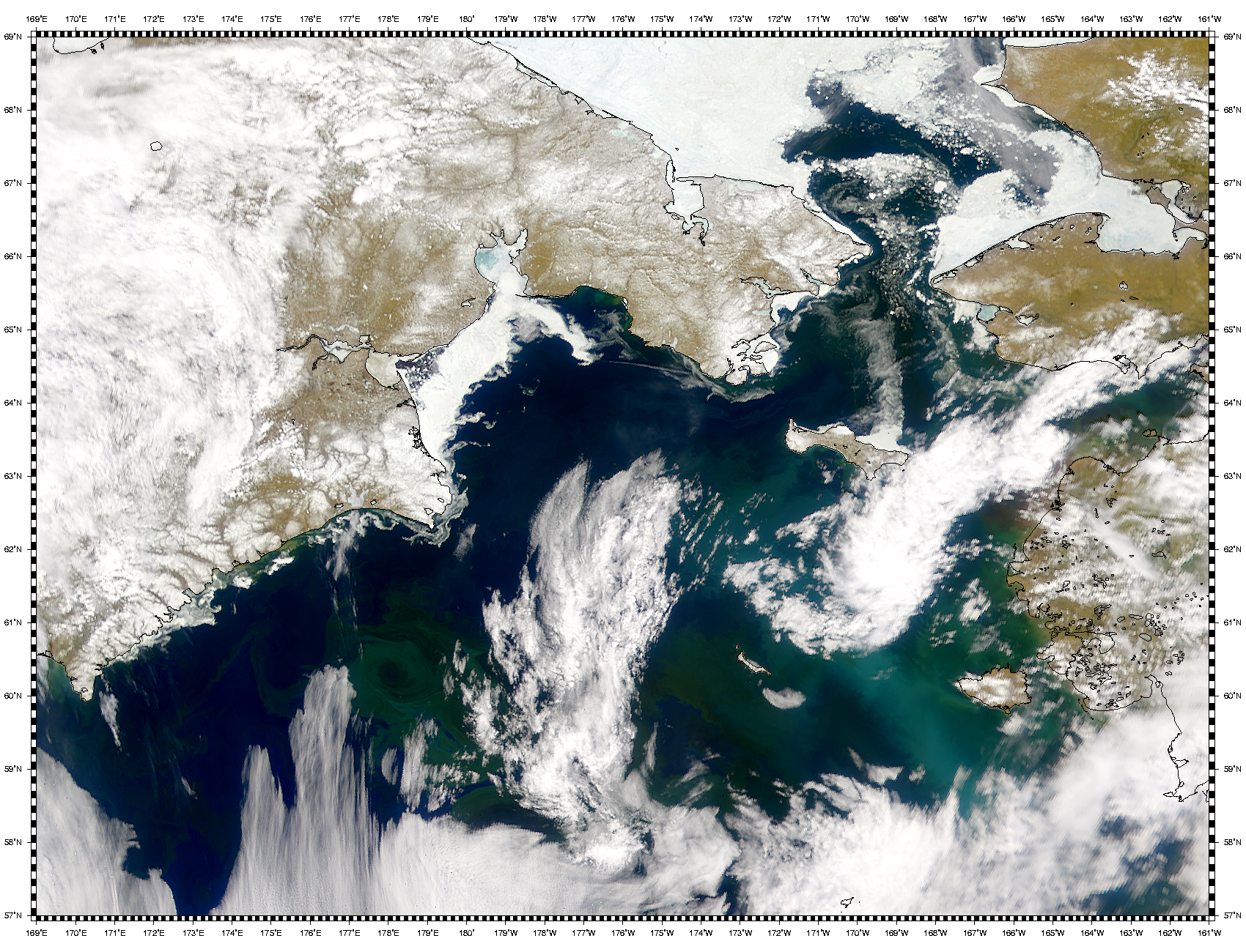Color Difference in Bering Sea Phytoplankton Blooms - related image preview