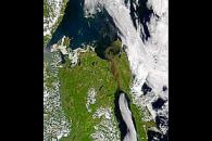 Sediment Flowing from the Amur