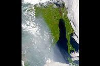 Smoke over Tartar Strait