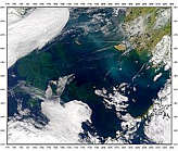 Contrails over Bering Sea - selected image
