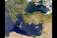 SeaWiFS Views Smoke from Fires on Samos