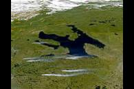 Smoke Plumes near Great Bear Lake