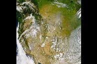 Smoke Over Western United States