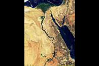 Egypt, Nile Delta and Sinai from MODIS