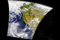 Smoke Over North America; Hurricane Hector