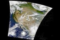 Smoke in Western U.S., Storms in Pacific