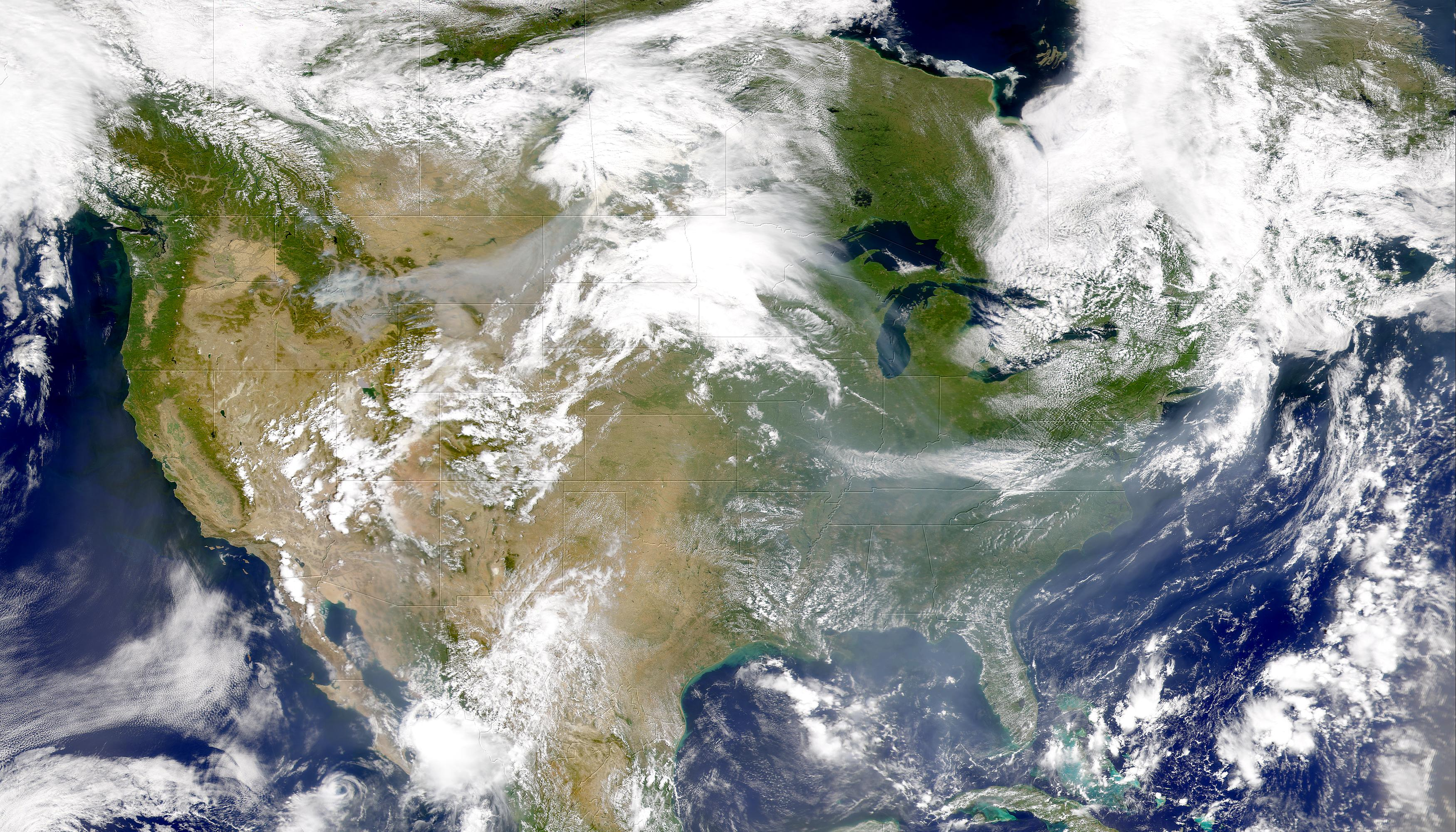 Smoke From West to East over U.S. - related image preview