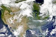 Smoke From West to East over U.S.