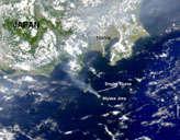 Smoke from Mount Oyama - selected image