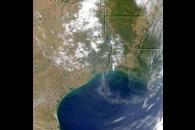 Smoke Plumes From Texas, Louisiana