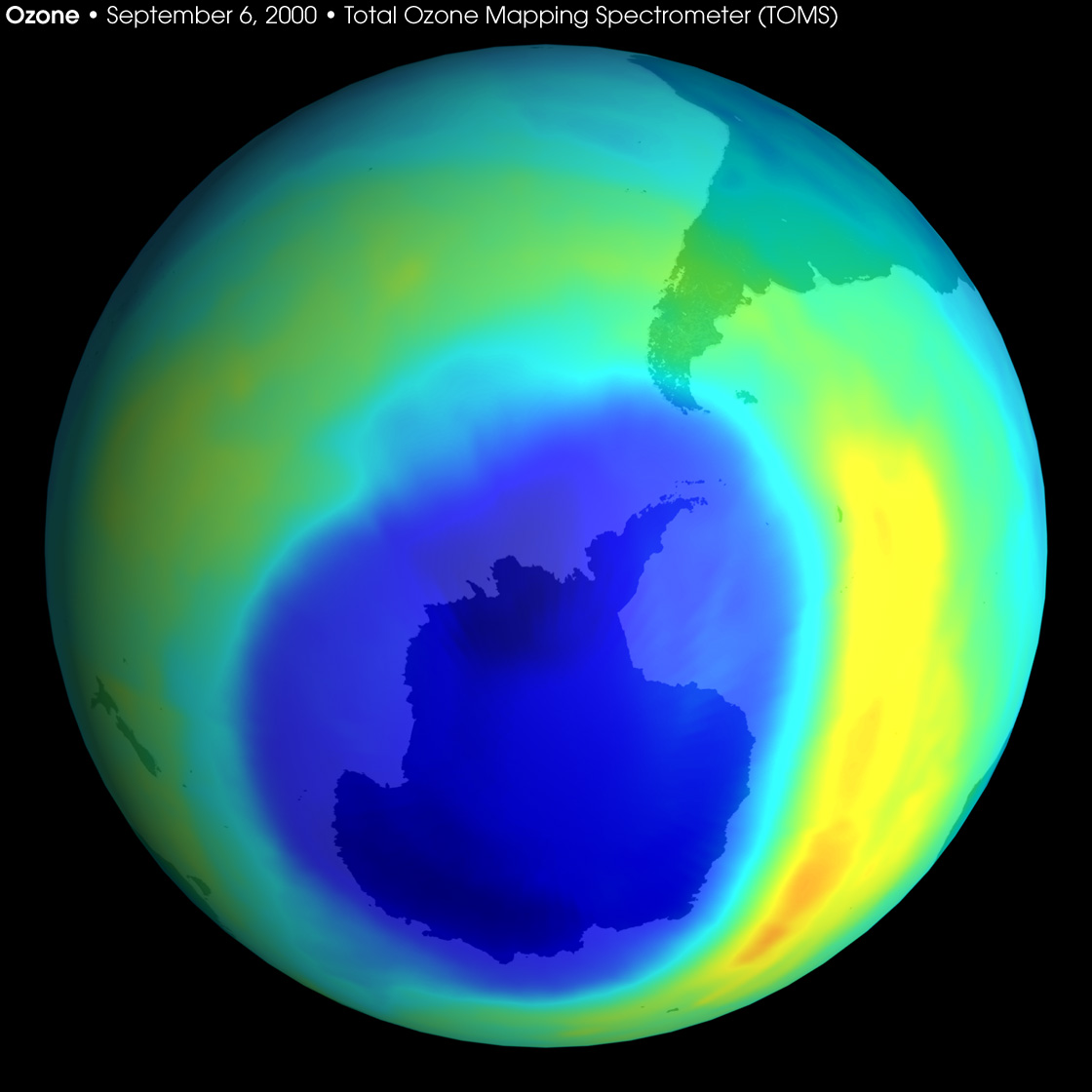 Largest-ever Ozone Hole over Antarctica - related image preview
